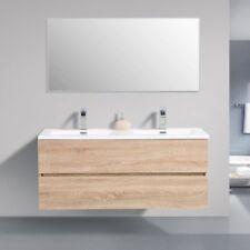 Avia 1200 White Oak Timber Wood Grain Wall Hung Bathroom Vanity Unit By indulge®