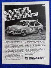 Opel Kadett Cup-bombardeados publicitarias advertisement 1982 __ (315