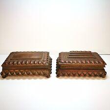 Antique Nürnberg Hand Crafted Brass Jewellery Boxes Rud Beusch Schutz Marke