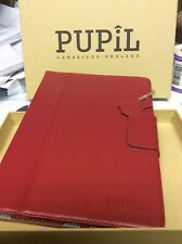 Leather cover IPAD AIR 1&2 GRADUATE by Pupil (made in Cambridge) SCARLET