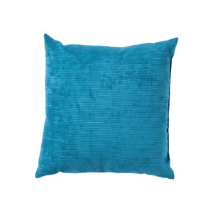 """Canaan VELVET CORDED TEAL PILLOW 22"""" X 22"""" Square Throw Couch Bed BLUE NEW NWT"""