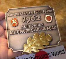AUTOPLAKETTE 24.Westfalen-Lippe-Fahrt 1963 Herforder AC im ADAC Pferd badge DW32