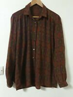 True Vintage Relaxed Fit Abstract Print blouse Top Size 16 18