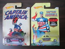 HW 2 HOT WHEELS AUTO CAPITAN AMERICA 70 FORD MUSTANG MACH 1 & 40 FORD coupé NUOVO