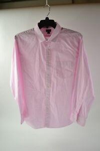 J.Crew Thompson Premium Shirting Pink Stripe Men's Dress Shirt Size 17 - 17 1/2