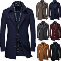 Men Suits Coat Winter Warm Wear Outside Business Blazer wtih Scarf Prom Tuxedos