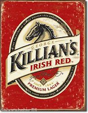 KILLIAN'S IRISH RED Lager Tin Sign Pub Vintage Metal Sign Retro Tin Sign 1390