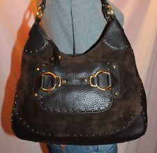 COLE HAAN Brown Medium Leather Shoulder Hobo Tote Slouch Purse Bag