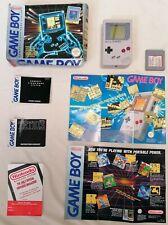 NINTENDO - Boxed Original Gameboy W/ Super 32 In 1 Cart + Posters Manuals DMG-01