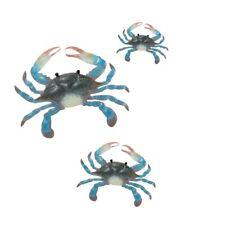 New Regal Blue Crab Wall Decor-, Set of 3