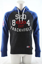 Superdry Trackster Baseball Hoodie Black Field Grit Various Sizes