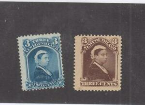 NEWFOUNDLAND # 49 & 51 MNG/NMLH 3cts QUEEN VICTORIA's CAT VALUE $55