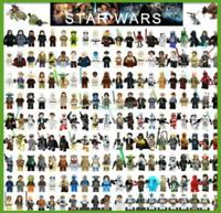 Star Wars Minifigures Darth Vader  Obi-Wan Jedi Ahsoka Yoda Skywalker Han Solo