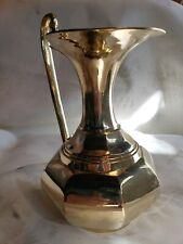 Vtg Large Brass Flower Vase Decor