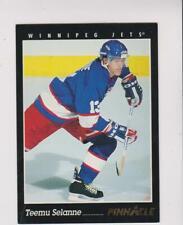 1993-94 Pinnacle SAMPLE #4 Teemu Selanne rookie card, Anaheim Ducks HOF