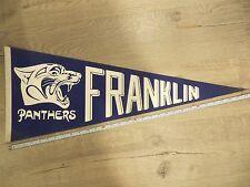 Franklin Panthers Massachusetts High School Mass MA Felt Pennant Flag Football