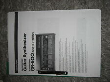 ROLAND GR-500 GUITAR SYNTHESIZER  MANUAL in ENGLISCH!