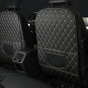 Universal Car Seat Back PU Leather Anti-Kick Mat Pad Protector Cover Accessories