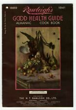 RAWLEIGH'S GOOD HEALTH GUIDE ALMANAC COOK BOOK Montreal 1941 Health Products Ads