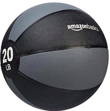 AmazonBasics Weighted 20 lb Medicine Ball for Full Body Workout Training