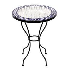 Marokkanischer Mosaiktisch orientalischer Tisch Bistrotisch Gartentisch 60cm Iss