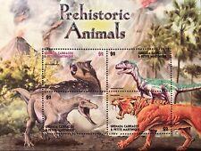 GRENADA DINOSAUR STAMPS SHEET 4V 2005 MNH PREHISTORIC ANIMALS SMILODON WILDLIFE