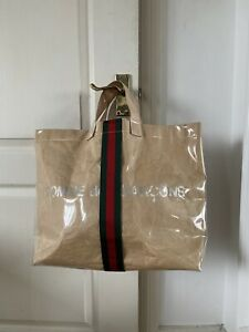Gucci X Comme Des Garcons Friends PVC Paper Plastic Tote Bag