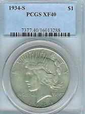 1934-S Peace Dollar :  PCGS  XF40