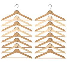 IKEA BUMERANG Kleiderbügel naturfarben 8er SET Hemdenbügel Holz mit Hosenstange