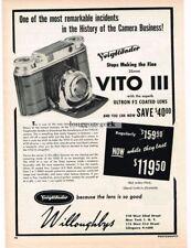 1954 Voigtlander Vito III 35mm Folding Camera Vtg Print Ad