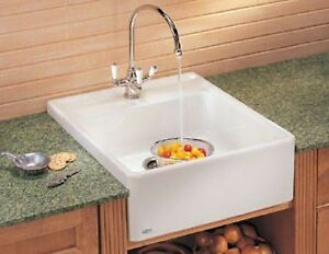 "FRANKE • Villeroy & Boch Fireclay Sink Single Bowl 24"" MHK 710-24 BT Biscuit NEW"