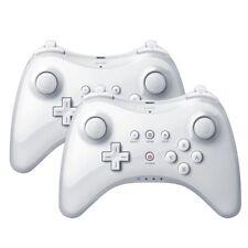 2X Manette sans Fil Bluetooth Jeu Joystick pour Nintendo Wii U Blanc