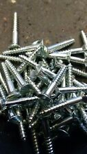 1 X 6 Steel Wood Screws.C.S.BZP.Slotted.Old Stock.Qty 200