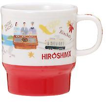 Starbucks Japan Geography Series HIROSHIMA Limited Mug 355ml White Red Gift New