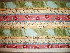 406  Richloom Colorful Stripe Print Stain Repellent Drapery Fabric 80 X 16