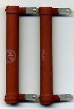 LOT DE 2 ANCIENNES RESISTANCES 12 kOHMS - 16 WATTS -  BOBINEES DE MARQUE PLP