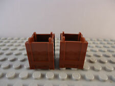 2 x 2 x 2 REDDISH BROWN CONTAINER BOX TOP OPENING x 2
