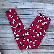 Red Panda Bear Women's Leggings OS One Size 2-12 Buttery Soft