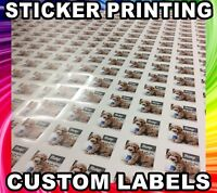 CUSTOM LABEL Sticker Printing your Design Vinyl Contour Cut Any Shape Business