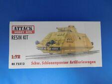 Attack Hobby Kits RESIN 1/72Schw. Schienenpanzer Artilleriewagen RE 72313