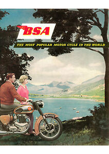 1959 BSA Motorcycles poster