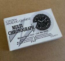 CITIZEN ANALOG QUARTZ MULTI CHRONOGRAPH Cal. No 6850 Booklet - VINTAGE