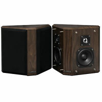 Fluance SXBP2W Home Theater Bipolar Surround Sound Speakers (Natural Walnut)