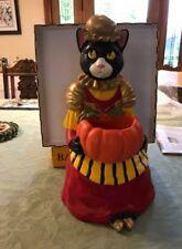 Halloween Candy Holder Catrina's Pumpkin Charm Black Cat