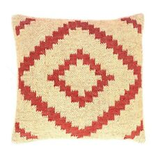 Wool Jute Hand Woven Kilim Cushion Cover Rug Throw Rustic Pillow Cases