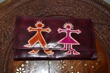 Natural Leather Women's Wallet Hand Embossed Made in India Boy & Girl