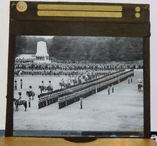 Antique Glass Slide Trooping of The Colour London 1930's