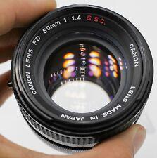 Canon FD 50mm F1.4 S.S.C. Lens For AE-1 Program A-1 F-1n SLR/Mirrorless Cameras