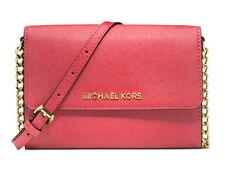 NWT $158 Michael Kors Jet Set Large Phone Saffiano Wallet On A Chain Crossbody!