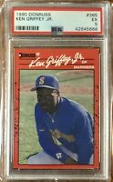 1990 Donruss #365 Ken Griffey Jr. (2nd Year) PSA 5 Excellent Condition Mariners
